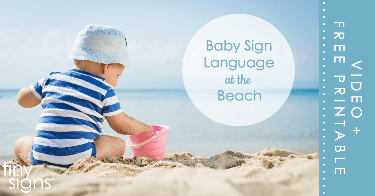 "I had so much doing sign language with my babies! When we went to the beach, my little one did the sign for ""bird"" over and over at the seagulls and the little sandpipers running around. So fun!"