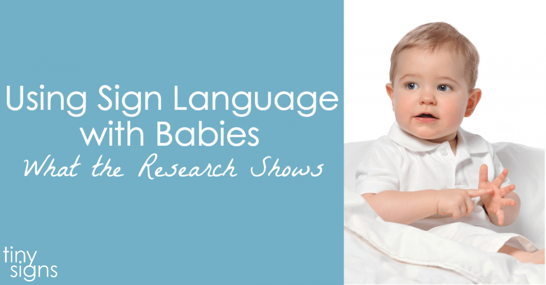 Will using sign language with babies delay speech? What the research shows…