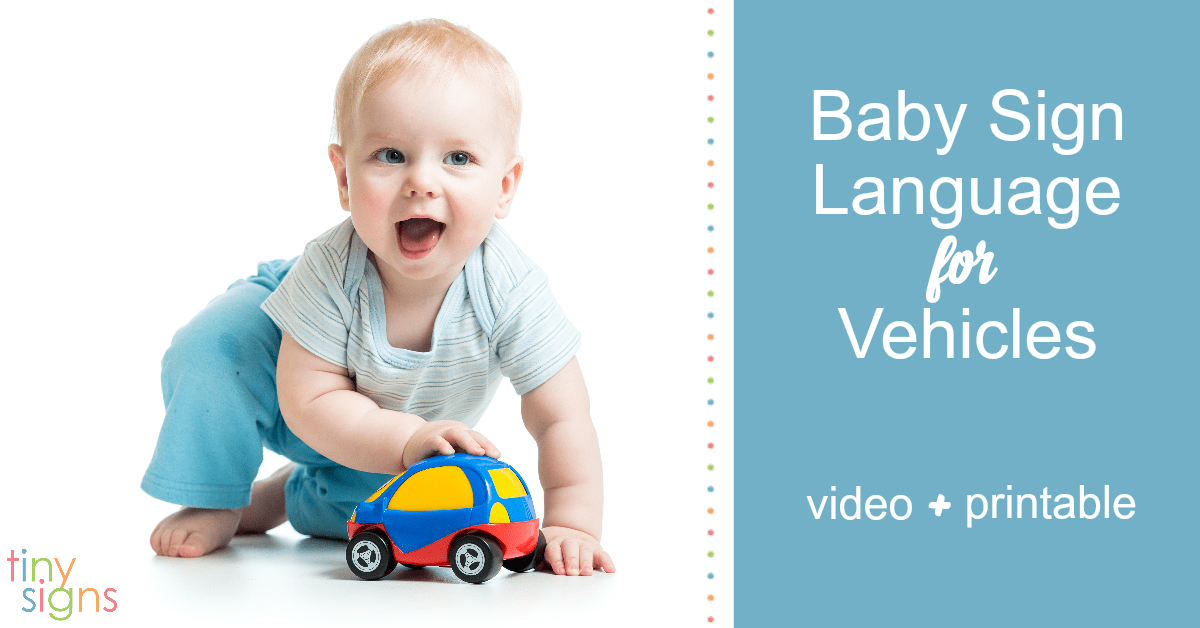 Teach your baby sign language with fun vehicle signs using this free video + printable guide. Learn how to sign AIRPLANE, BICYCLE, BOAT, BUS, CAR, HELICOPTER, MOTORCYCLE, TRUCK + more
