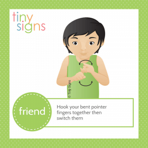 How to sign FRIEND in American Sign Language